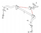 Rear Anti Roll Bar & Stabiliser Links (Standard)